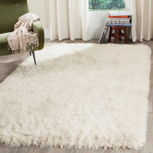 Feng Hand-Tufted White Area Rug Rug Size: Rectangle 8'6