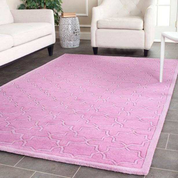 Wilkin Pink Area Rug Rug Size: Rectangle 3' x 5'