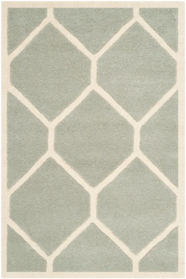 Wilkin Hand-Tufted Wool Gray/Ivory Area Rug Rug Size: Rectangle 5' x 8'