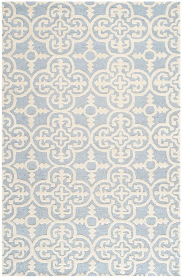 Marlen Light Blue & Ivory Area Rug Rug Size: Rectangle 11'6