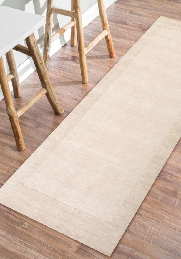 Tadlock Hand-Woven Beige Area Rug Rug Size: Runner 2'6