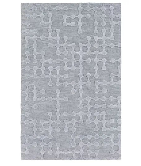 Serpentis Hand-Hooked Light Gray/Sage Area Rug Rug Size: Rectangle 9' x 13'