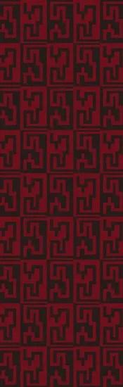 Donley Espresso & Venetian Red Geometric Area Rug Rug Size: Rectangle 5' x 8'