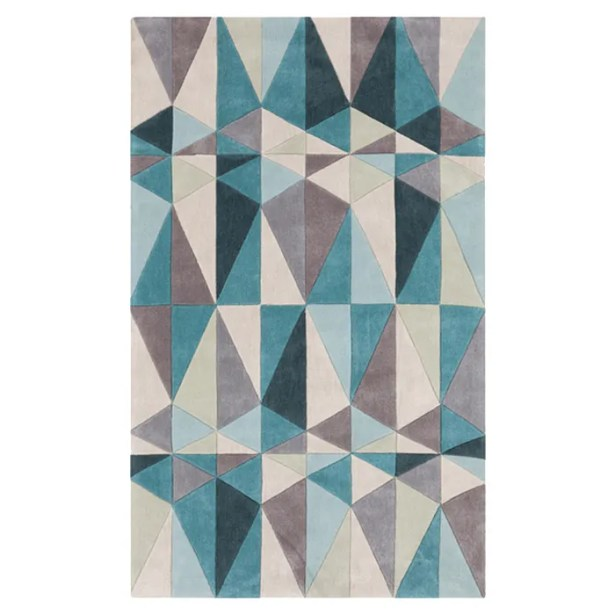Conroy Teal Blue/Blue Haze Area Rug Rug Size: Rectangle 8' x 11'
