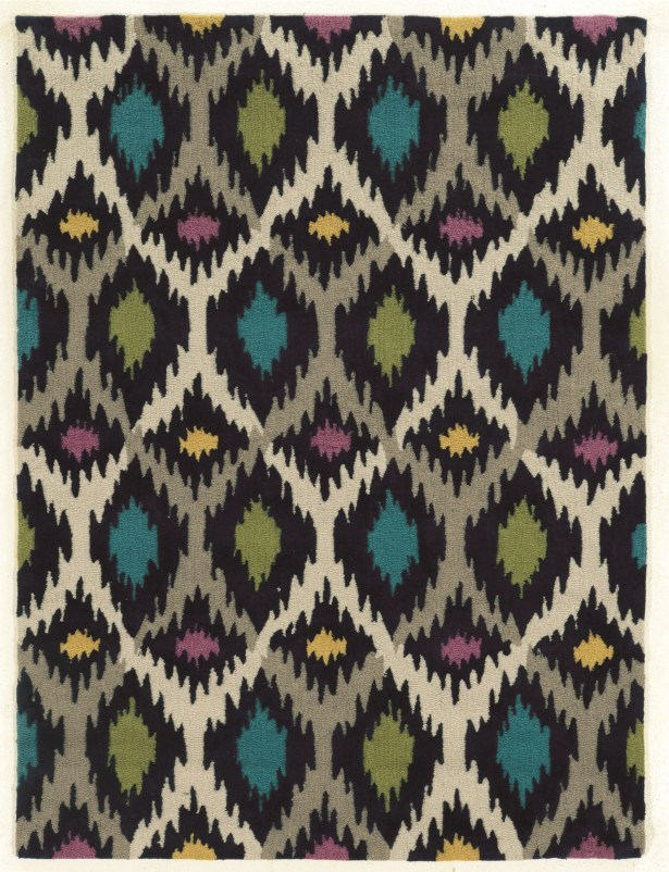 Askins Hand-Tufted Grey/Ivory Area Rug Rug Size: Rectangle 5' x 7'