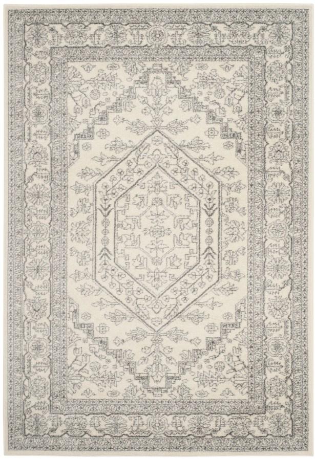 Ebenezer Contemporary Ivory/Silver Area Rug Rug Size: Rectangle 11' x 15'