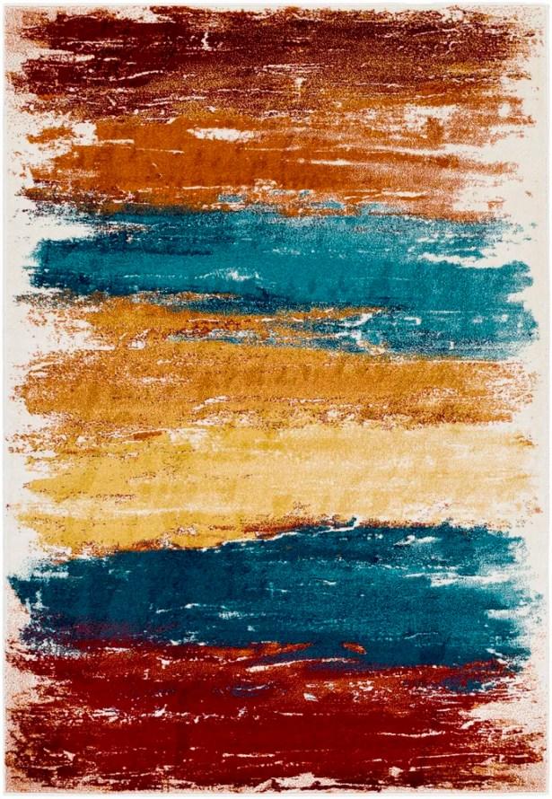Shuff Blue/Orange Area Rug Rug Size: Rectangle 7'11