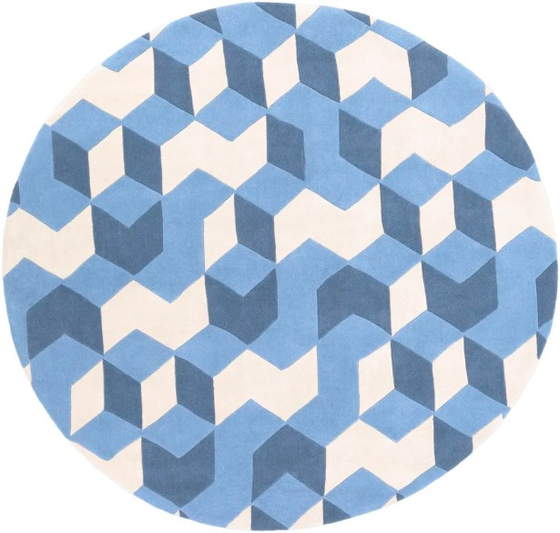 Conroy Hand-Tufted Blue Area Rug Rug Size: Rectangle 9' x 13'