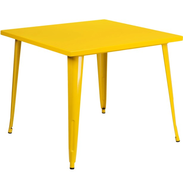 Auld Bistro Table Finish: Yellow