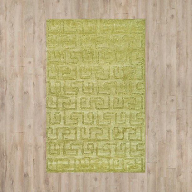 Armstrong Hand-Tufted Green Area Rug Rug Size: Rectangle 3'6