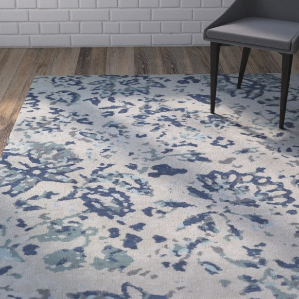 Roan Blue/Gray Area Rug Rug Size: 3' x 5'