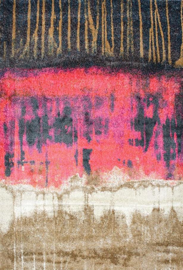Tabris Pink Area Rug Rug Size: Rectangle 6'7