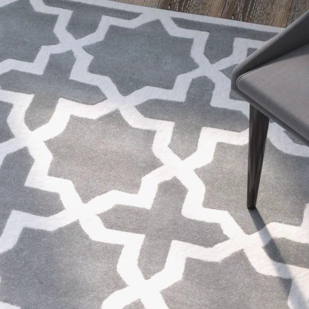 Wilkin Hand-Woven Dark Gray Area Rug Rug Size: Square 4'