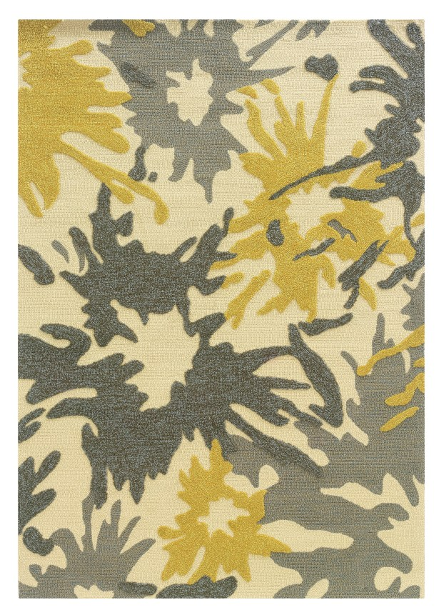 Frasher Hand-Tufted Yellow/Gray Outdoor Area Rug Rug Size: Rectangle 5' x 7'
