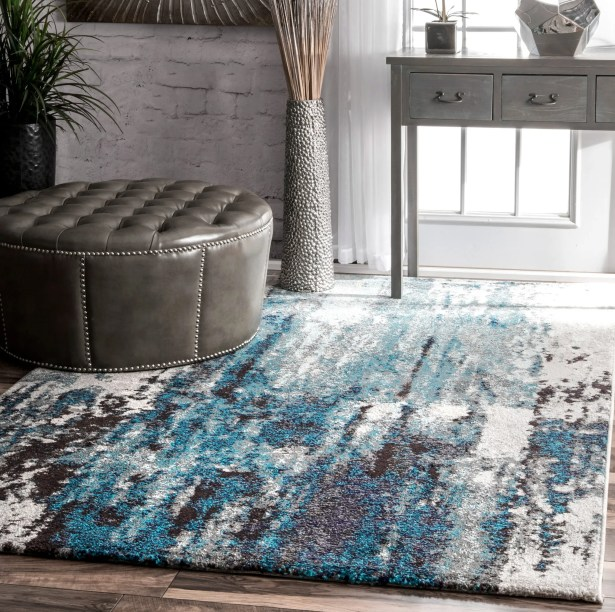 Elliott Blue/Gray Area Rug Rug Size: Rectangle 8' x 10'