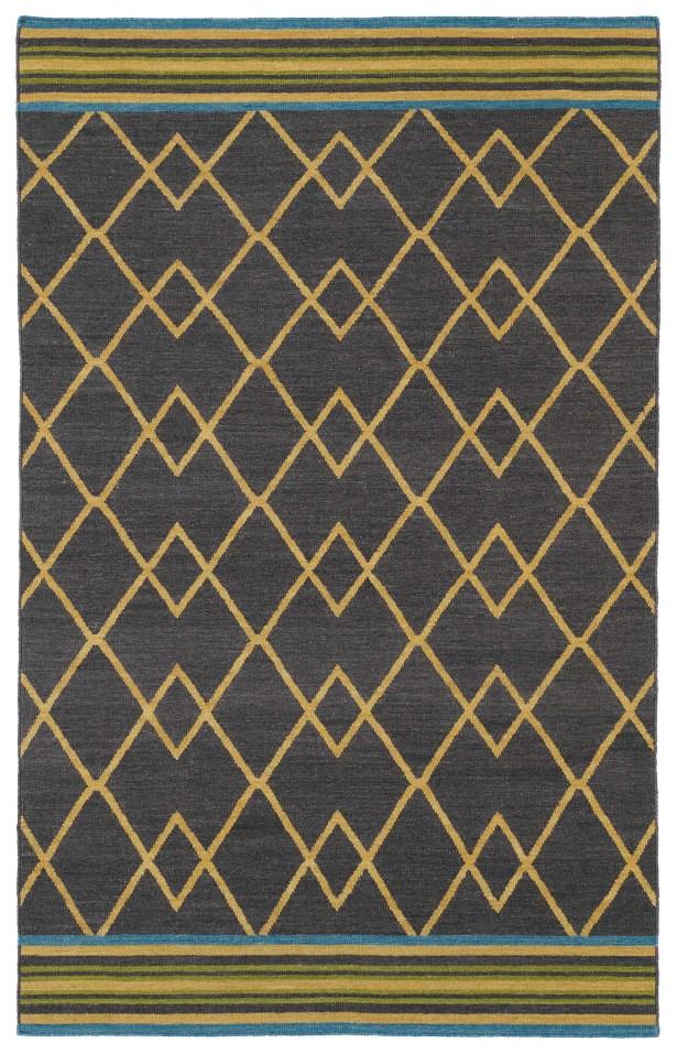 Marble Falls Charcoal Geometric Area Rug Rug Size: Rectangle 5' x 8'