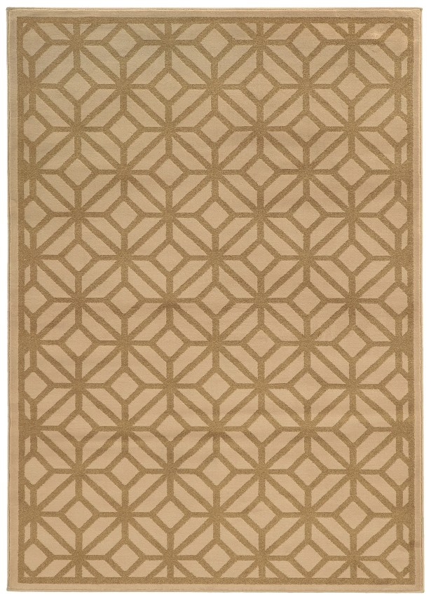 Halloran Beige/Tan Area Rug Rug Size: Rectangle 5'3