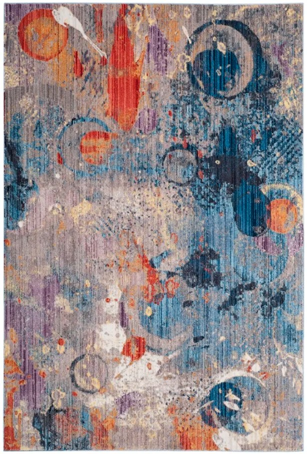 Amulree Gray/Blue Area Rug Rug Size: Rectangle 9' x 12'