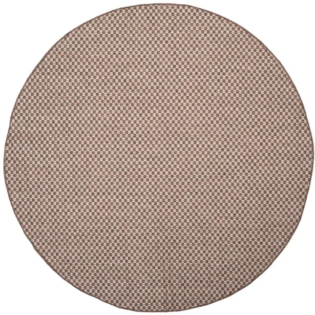 Jefferson Place Light Brown/Light Gray Outdoor Area Rug Rug Size: Round 6'7