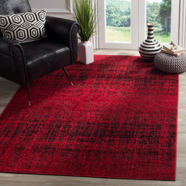 Connie Red/Black Area Rug Rug Size: Runner 2'6
