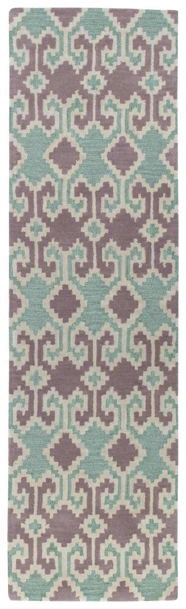 Hinton Charterhouse Hand-Tufted Purple Area Rug Rug Size: Runner 2'3