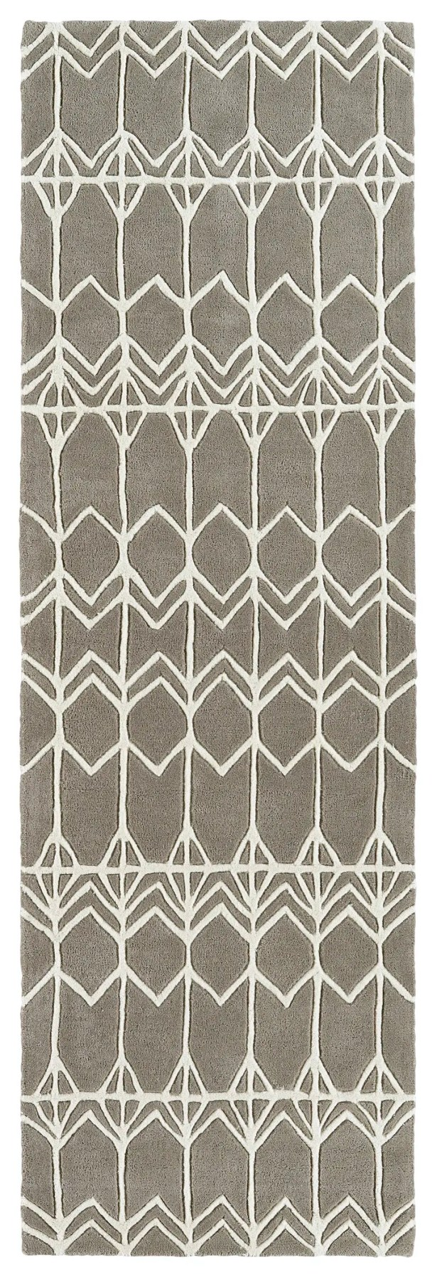 Ronnie Hand-Tufted Gray Area Rug Rug Size: Rectangle 8' x 10'
