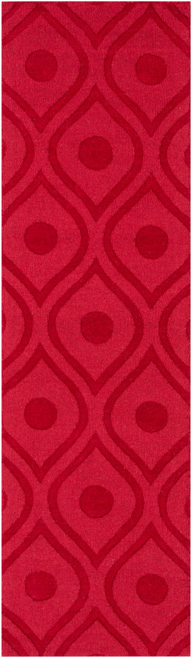 Castro Hand Woven Wool Red Area Rug Rug Size: Runner 2'3