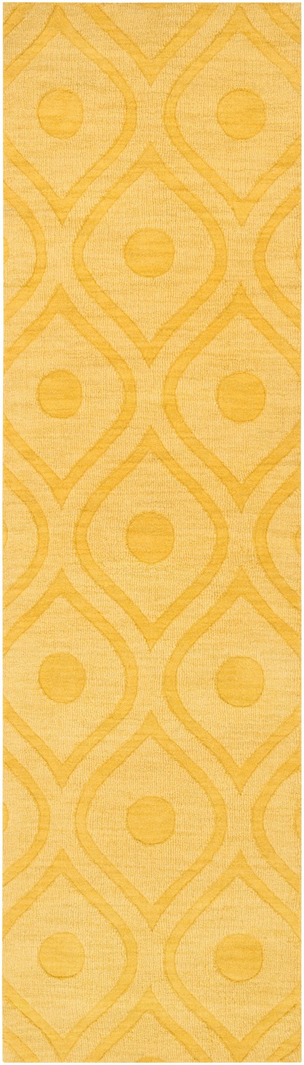 Castro Hand Woven Wool Yellow Area Rug Rug Size: Runner 2'3