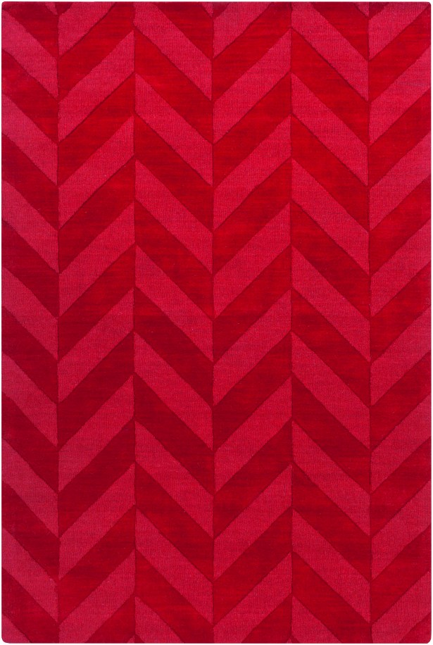 Sunburst Hand Woven Wool Red Area Rug Rug Size: Rectangle 6' x 9'