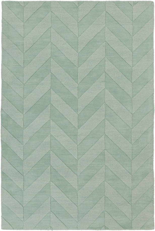 Sunburst Hand Woven Wool Teal Area Rug Rug Size: Rectangle 10' x 14'