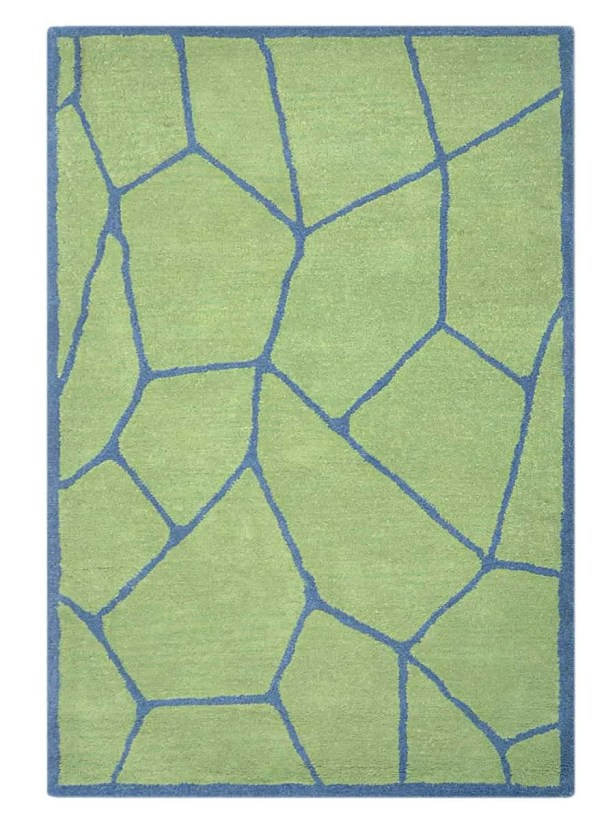 Arius Hand-Tufted Wool Green Area Rug Rug Size: Rectangle 8' x 10'