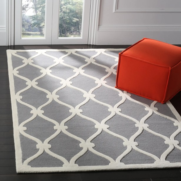 Martins Hand-Tufted Gray Area Rug Rug Size: Rectangle 5' x 8'