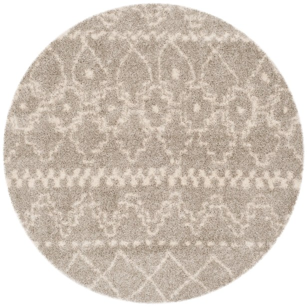 Amicus Gray Area Rug Rug Size: Round 6'7''