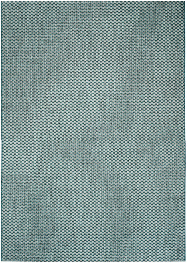 Jefferson Place Turquoise/Light Gray Outdoor Area Rug Rug Size: Rectangle 5'3
