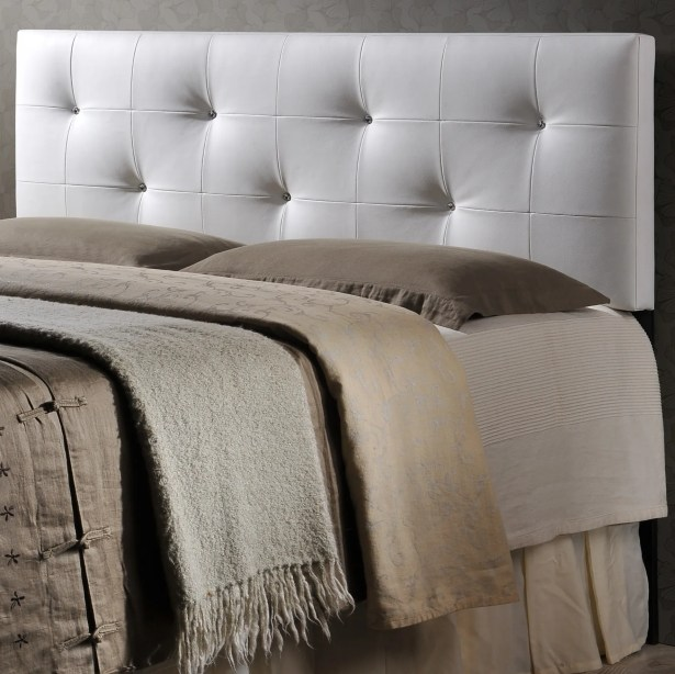 Haffey Upholstered Panel Headboard Size: Queen, Upholstery: White