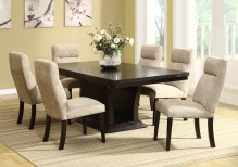 Dining Table Sets Morency 7 Piece Extendable Solid Wood Dining Set