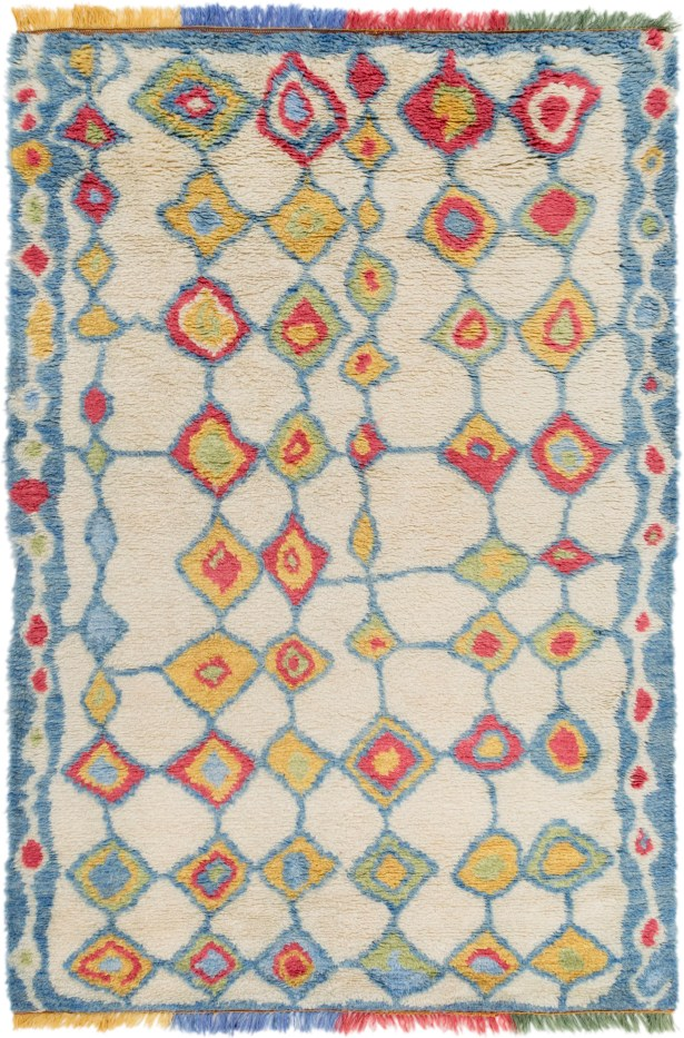 Withyditch Hand Knotted Beige Area Rug Rug Size: Rectangle 6' x 9'