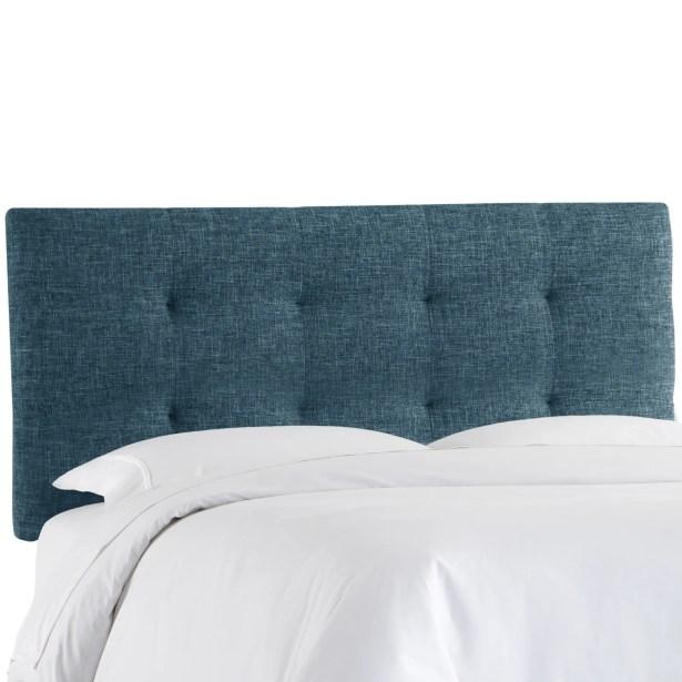 Castellon Tufted Upholstered Panel Headboard Size: Full, Upholstery: Navy