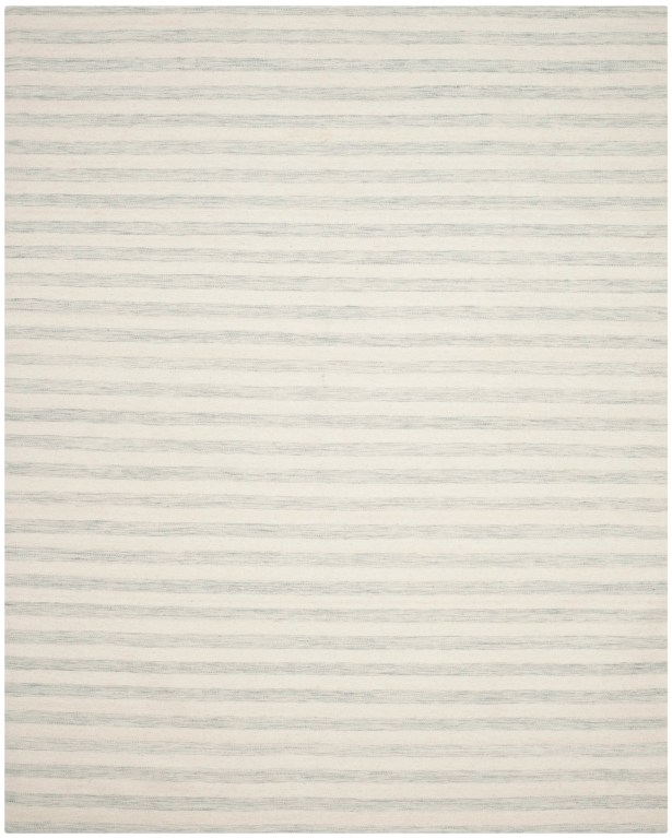Crawford Hand-Woven Light Blue/Ivory Area Rug Rug Size: Rectangle 4' x 6'