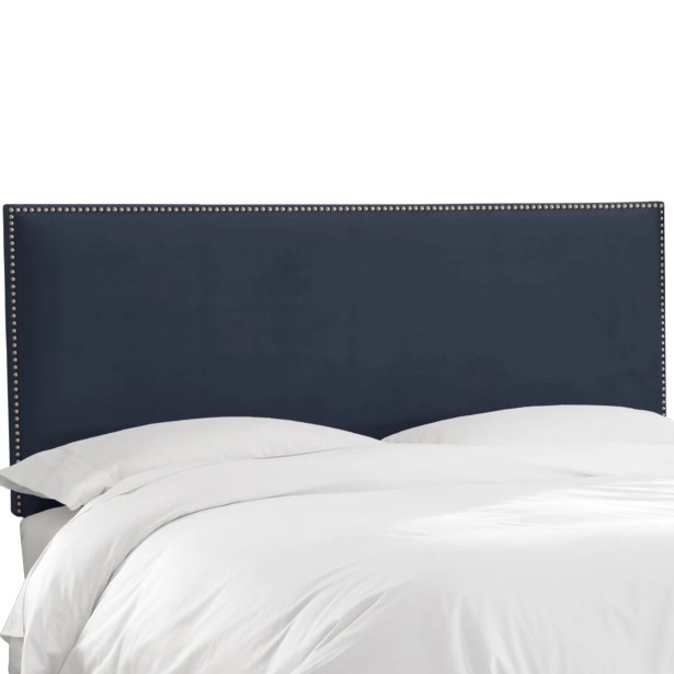 Speight Nail Button Upholstered Panel Headboard Size: Twin, Upholstery: Mystere Eclipse