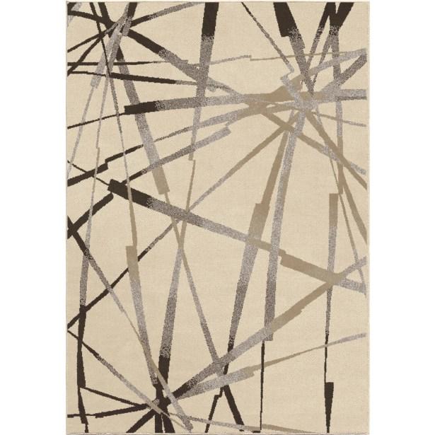 Mullinix Ivory/Brown Area Rug Rug Size: 5'3