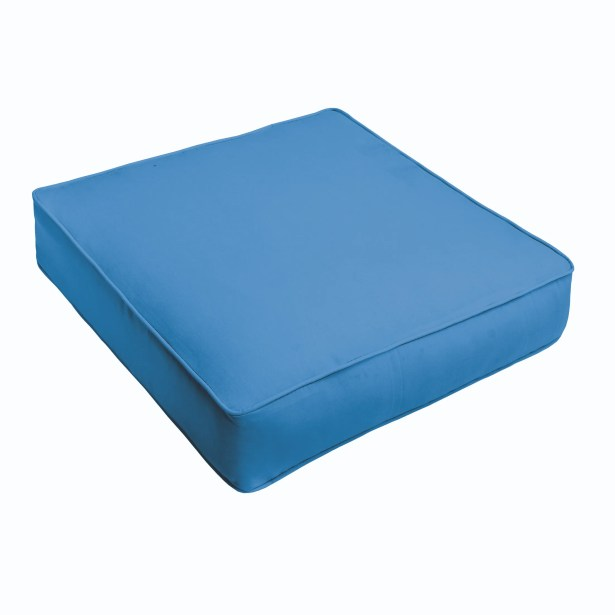 Indoor/Outdoor Chair Cushion Fabric: Light Blue, Size: 3