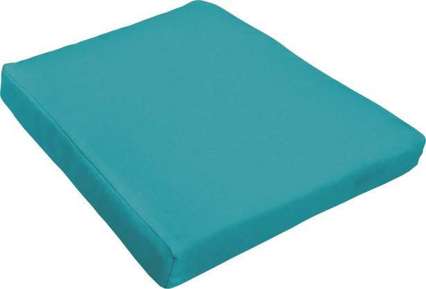 Indoor/Outdoor Dining Chair Cushion Fabric: Aqua Blue