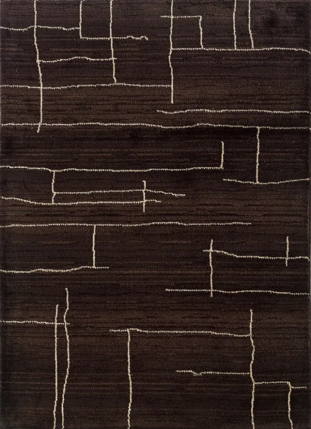 Feltner Brown/Ivory Area Rug Rug Size: Rectangle 9'9