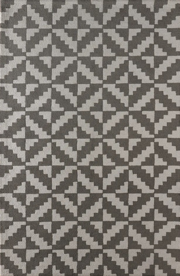 Hisey Hand-Tufted Steel Area Rug Rug Size: Rectangle 5' x 8'
