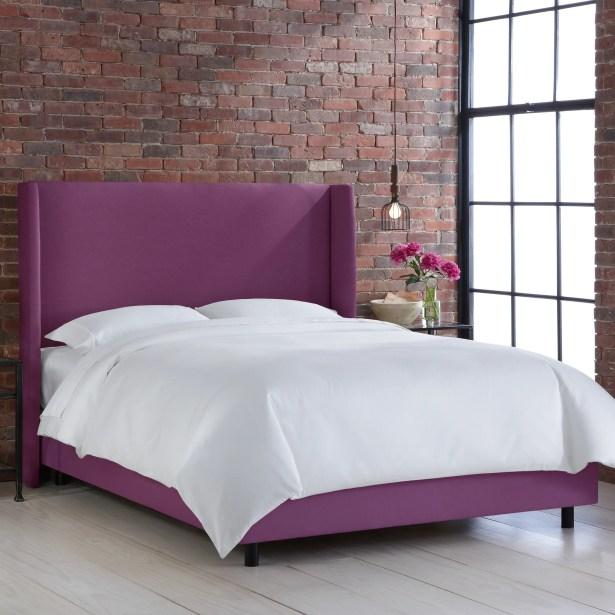 Settles Upholstered Panel Bed Size: Full, Color: Klein Fig