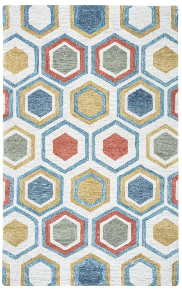 Thibaud Hand-Tufted Multi Area Rug Rug Size: Rectangle 5' x 8'