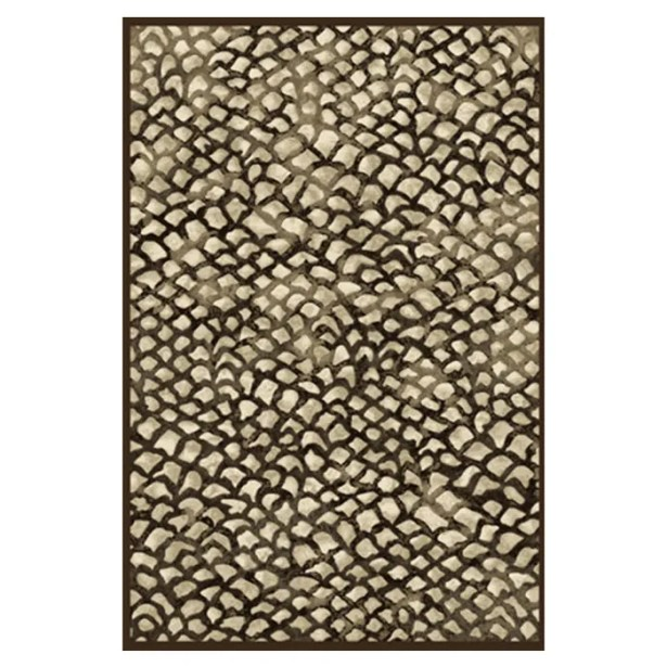 Foulds Chocolate/Grey Area Rug Rug Size: 7'10