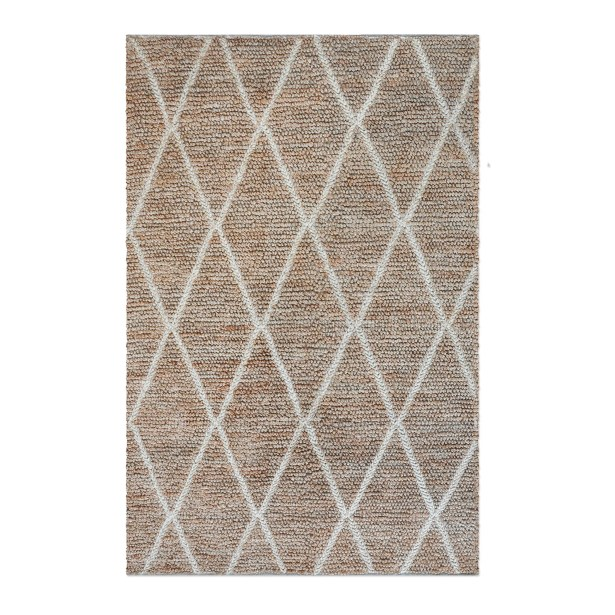Nelms Hand-Woven Ivory Area Rug Rug Size: 9' x 12'