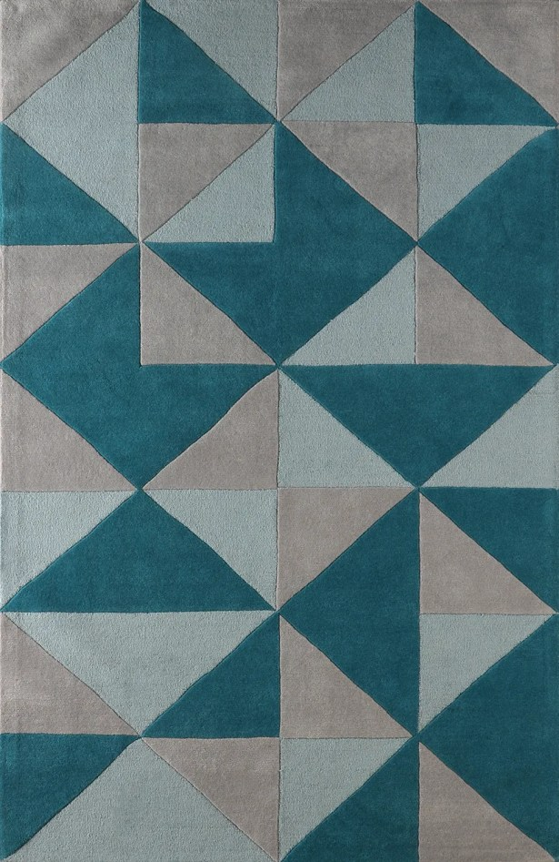 Lueras Hand-Tufted Lapis Area Rug Rug Size: Rectangle 8' x 10'